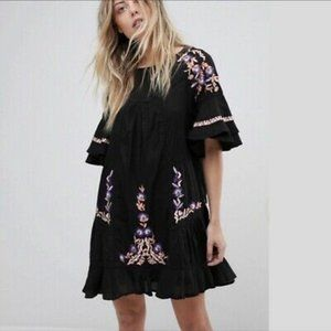 FREE PEOPLE | Pavlo Babydoll Dress Black XS NWT